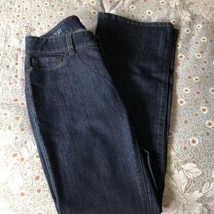 Ann Taylor curvy fit dark wash bootcut jeans